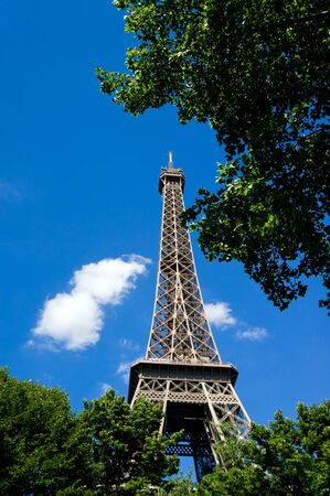 View of Eiffel Tower in Paris, France  Stock Photo - 11613916