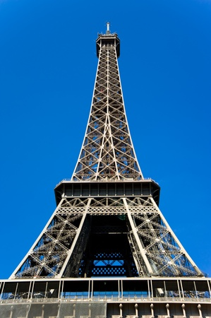 Eiffel tower against blue sky,Paris,France Stock Photo - 11611647