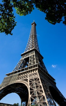 Eiffel tower against blue sky,Paris,France Stock Photo - 11611718