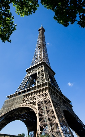 Eiffel tower against blue sky,Paris,France Stock Photo - 11611717