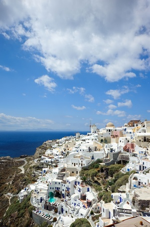 Oia under blue sky in santorini island,greek Stock Photo - 11611625