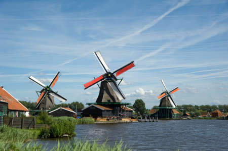 windmills: Windmills beside the river