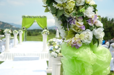 outdoor wedding: Wedding decoration