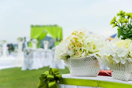 결혼식 피로연 개요 스톡 사진