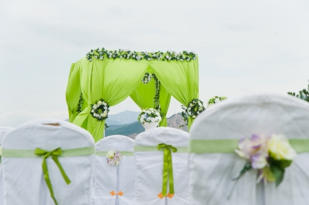 setup: Wedding decoration overview