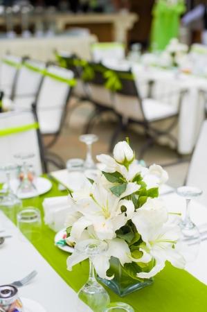 파티 나 결혼식 피로연 테이블 세트