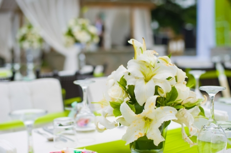 Table set for an party or wedding reception Stock Photo - 15521221