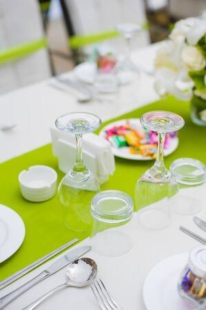 Table set for an party or wedding reception Stock Photo - 15521222