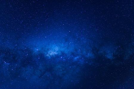 milky: Milky way with blue sky at Lake Tekapo, New Zealand Stock Photo