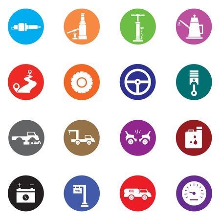 Auto Mobile Icon Set Vector