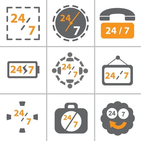24x7: This image represent for 24x7