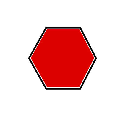 traffic sign blank plate with white background. Stockfoto