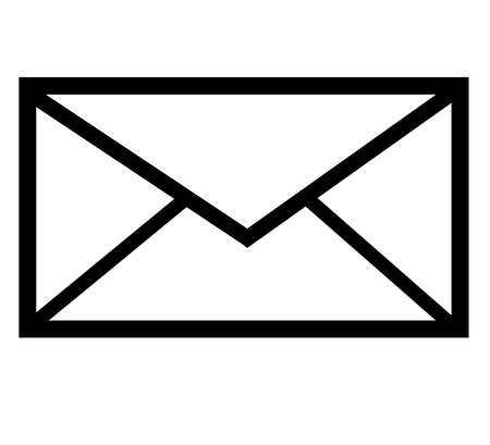 message icon with white background and black colour border.