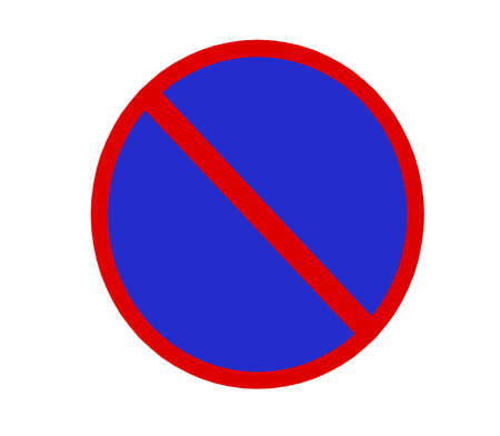 no entry sign with white background.