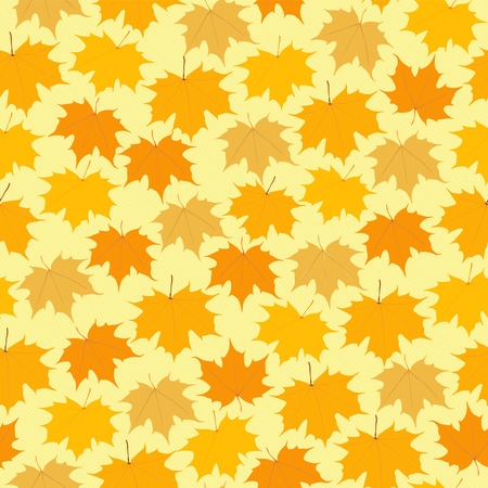 Botanical seamless pattern maple leaves. Vector ornament. Bright floral background