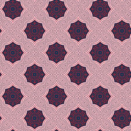 Abstract colorful seamless pattern design composition. Wallpaper, background. Eps 10