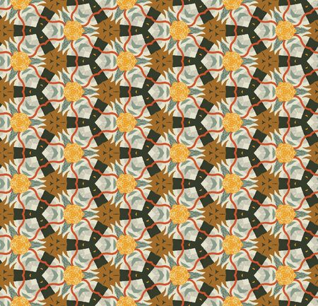 Abstract colorful seamless pattern design composition. Wallpaper, background. Eps 10  イラスト・ベクター素材