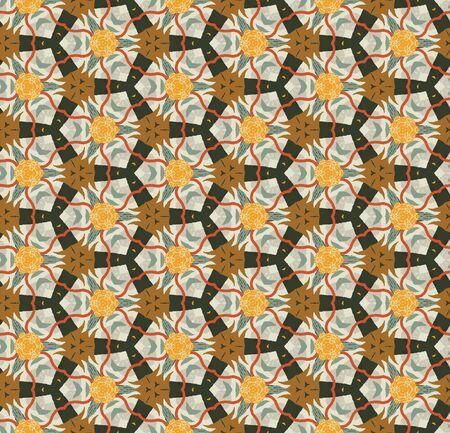 Abstract colorful seamless pattern design composition. Wallpaper, background. Eps 10 Ilustração