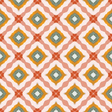 Abstract colorful seamless pattern design composition. Wallpaper, background. Eps 10 Vetores