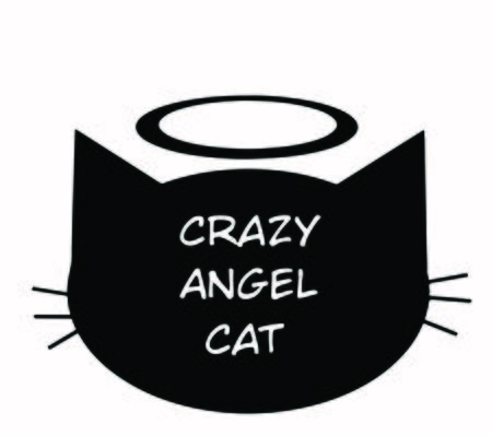 Crazy angel cat Black shadow