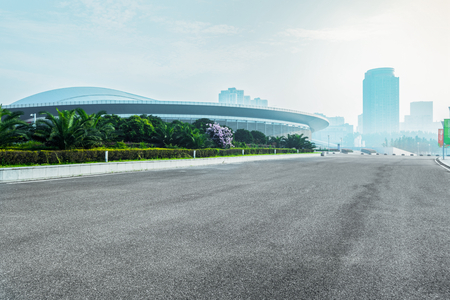 olympic sports: Nanjing Olympic Sports Center floor sky background
