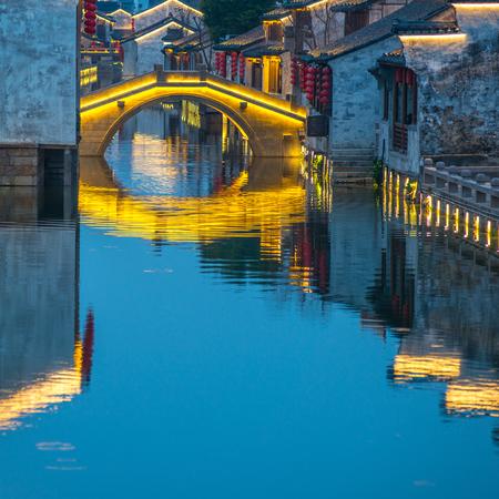 jiangsu: Jiangsu Province Wuxi  DangKou town night scenery