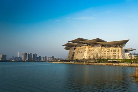 Jiangsu Province Wuxi Taihu Lake cityscape