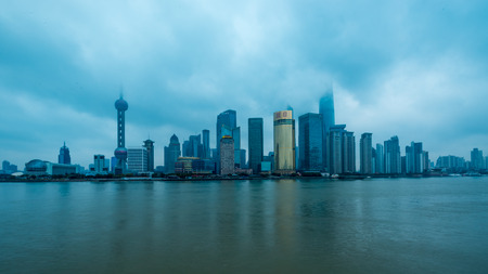huangpu: Shanghai Lujiazui Cityscape