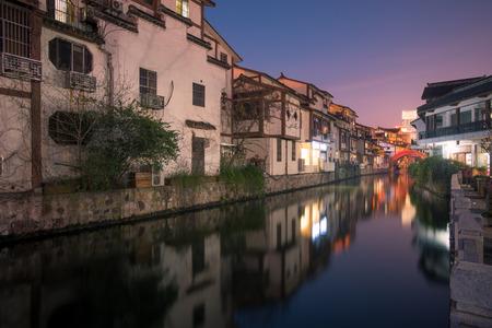 Night street of Wuxi City, Jiangsu Province, China