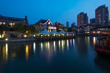 jiangsu: Night scenery of Wuxi City, Jiangsu Province, China