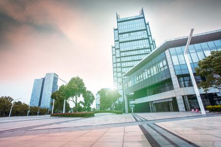 shu: Modern building in Jiang Shu city