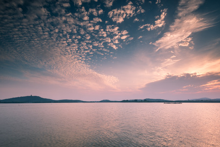 Taihu Lake scenery in Wuxi city, Jiangsu Province