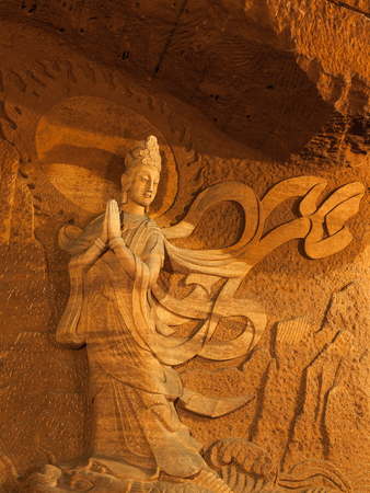 sichuan province: Buddha statue in Leshan, Sichuan Province, China