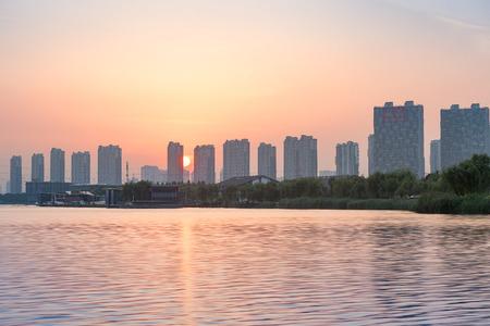 bay city: Jiangyin City, Wuxi province Jiangsu Chinese Yu hill bay city building scenery
