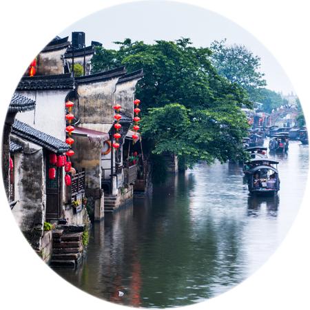 Ancient town, Xitang, Zhejiang Province, China Editorial