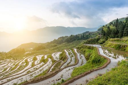 Natural scenery of Lishui, Zhejiang Province, China