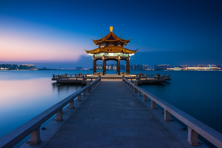 jinji lake in suzhou city, jiangsu province,china