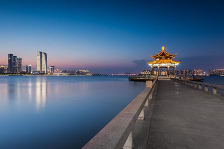 jinji lake in suzhou city, jiangsu province,china