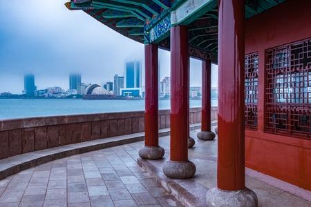 Qingdao city landscape, shandong province, China Фото со стока
