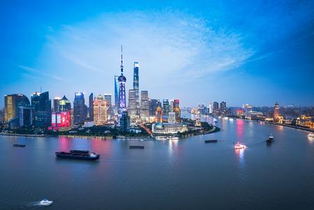 Shanghai lujiazui city landscape, China Standard-Bild