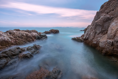 Island natural scenery, Qingdao city, China