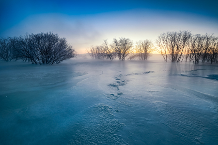 Inner Mongolia Chifeng City, winter grassland scenery Standard-Bild
