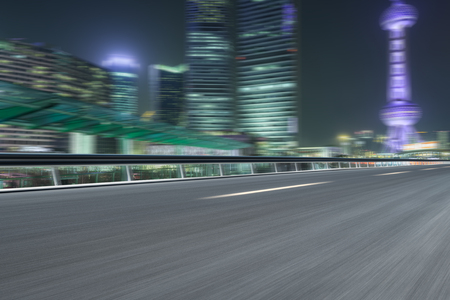 City at night with motion blur
