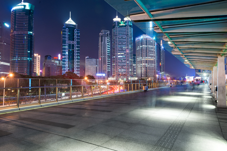 Cityscape at night Editorial