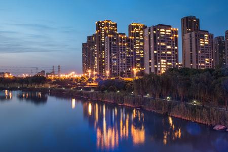 Accommodation by a river Standard-Bild