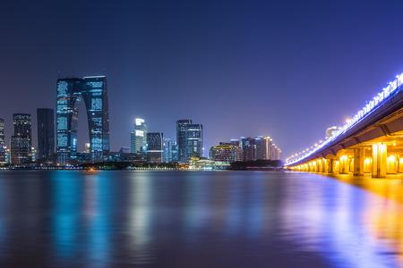 China city nightscape Banco de Imagens