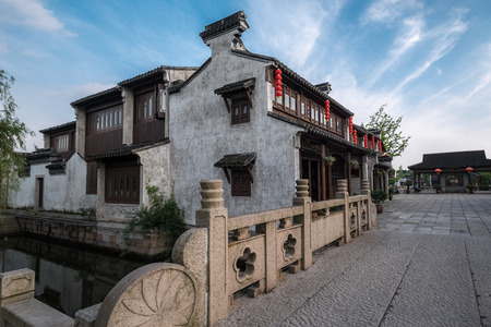 Exterior view of a traditional Chinese building Editorial