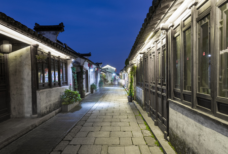 Walkway in a historical town in China