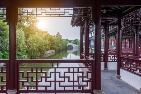 Scenic view in an oriental garden