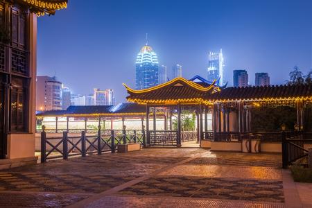 Oriental buildings in a modern city Standard-Bild
